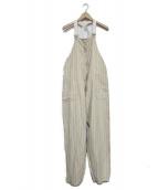 KAPTAIN SUNSHINE(キャプテン サンシャイン)の古着「Finx Cotton-Linen Twill Deck T」|ベージュ