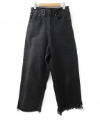 77circa(ナナナナサーカ)の古着「リーバイスリメイクデニムパンツ」 ブラック