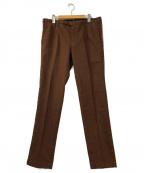 PT01(ピーティーゼロウーノ)の古着「センタープレスパンツ」 ブラウン