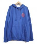 anti social social CLUB(アンチソーシャルソーシャルクラブ)の古着「スウェットジップパーカー」 ブルー