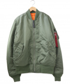 ALPHA INDUSTRIES(アルファインダストリーズ)の古着「MA-1ジャケット」|カーキ