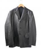 Paul Smith COLLECTION(ポールスミスコレクション)の古着「ラムレザーテーラードジャケット」 ブラック