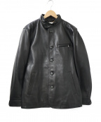 TAKEO KIKUCHI(タケオキクチ)の古着「シープスキンカバーオールブルゾン」 ブラック