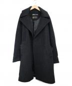 ZARA(ザラ)の古着「ビッグシルエットチドリチェスターコート」|ブラック