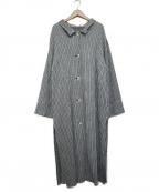OPENING CEREMONY(オープニングセレモニー)の古着「プリーツステンカラーコート」|ライトグレー