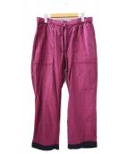 ()の古着「リバーシブルイージーワイドパンツ」 ネイビー×ピンク