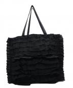 TO BE CHIC(トゥービーチック)の古着「フリルトートバッグ」 ブラック