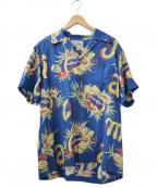 WACKO MARIA(ワコマリア)の古着「JAMAICA FLOWER S/S HAWAIIAN SH」|ブルー