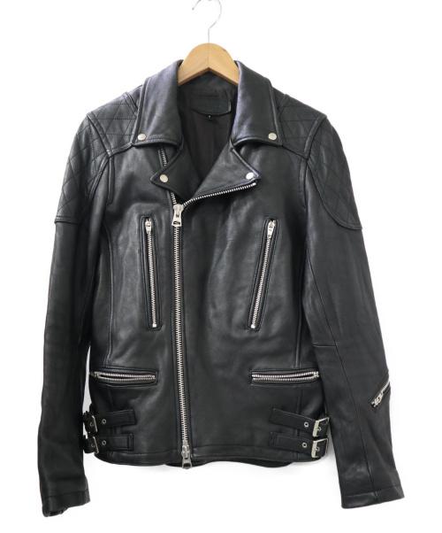 JACKROSE(ジャックローズ)JACKROSE (ジャックローズ) ラムレザーダブルライダースジャケット ブラック サイズ:3の古着・服飾アイテム