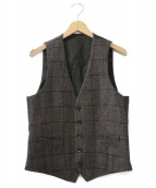 LARDINI(ラルディーニ)の古着「ウールジレ」|ブラウン
