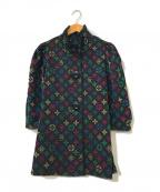 伊太利屋(イタリヤ)の古着「総柄フリルジャケット」|ブラック