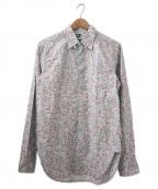 Engineered Garments(エンジニアドガーメンツ)の古着「リバティプリントシャツ」|ブルー×ピンク