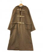 UNGRID(アングリッド)の古着「ロングダッフルコート」|ベージュ