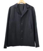 Y'S YOHJI YAMAMOTO(ワイズ ヨウジヤマモト)の古着「ウールギャバジン4Bジャケット」 ブラック