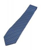 Salvatore Ferragamo(サルヴァトーレ フェラガモ)の古着「ネクタイ」|ブルー