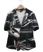 Y-3(ワイスリー)の古着「総柄オープンカラーシャツ」|ブラック