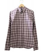 ()の古着「チェックシャツ」|ボルドー×ホワイト