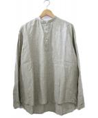 ()の古着「STAND linen shirt」|グレー
