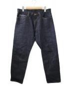 ()の古着「リジットデニムパンツ」|インディゴ