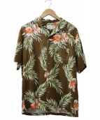()の古着「アロハシャツ」|ブラウン
