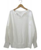 KUMIKYOKU(クミキョク)の古着「ギマコットンキーネックニット」|ホワイト
