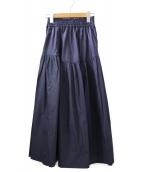 ()の古着「古着デザインギャザースカート」|ネイビー