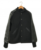 skookum(スクーカム)の古着「レザー切替スタジャン」|ブラック