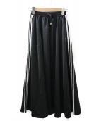 ()の古着「LONG SATIN SKIRT」|ブラック