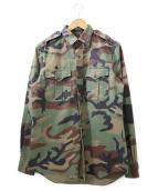POLO RALPH LAUREN(ポロ・ラルフローレン)の古着「カモフラミリタリーシャツ」|オリーブ