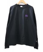 Champion×Needles(チャンピオン×ニードルス)の古着「別注ロッカールームTシャツ」|ブラック