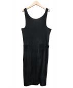 ()の古着「プリーツデザインサロペット」|ブラック