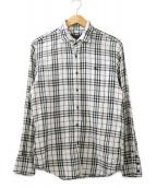 ()の古着「ガーゼチェックシャツ」|アイボリー