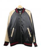 stussy()の古着「虎刺繍スーベニアジャケット」|ブラック×ゴールド