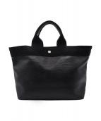()の古着「リプルネオレザートートバッグ」|ブラック