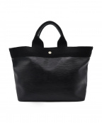 TOPKAPI(トプカピ)の古着「リプルネオレザートートバッグ」|ブラック