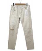 ()の古着「リペア加工デニムパンツ」|ホワイト