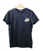 MONCLER(モンクレール)の古着「ダブルワッペンTシャツ」|ネイビー