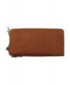 ()の古着「ラウンドファスナー長財布」|ブラウン