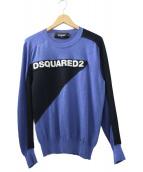 DSQUARED2(ディースクエアード)の古着「ロゴニット」|ブルー×ブラック