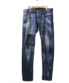DSQUARED2(ディースクエアード)の古着「Rope Clip Slim Jean Distressed」|インディゴ