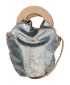 ()の古着「スパンコールバッグ」 スカイブルー