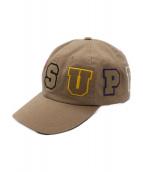 SUPREME(シュプリーム)の古着「Spellout 6-Panel Cap」|ベージュ
