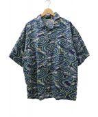 Patagonia(パタゴニア)の古着「総柄A/Cシャツ」|ネイビー×グリーン