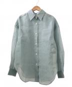 allureville(アルアバイル)の古着「ソフトオーガンジーシアーシャツ」|ブルーグリーン