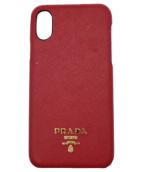 PRADA(プラダ)の古着「iPhoneX/XSケース」|レッド