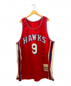 MITCHELL & NESS(ミッチェルアンドネス)の古着「[古着]バスケットボールゲームシャツ」|レッド