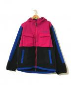 Liberaiders(リベライダーズ)の古着「POLARTEC FLEECE JACKET」 ピンク×ブラック