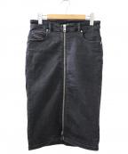 DIESEL()の古着「DE-PENCIL-ZIP」|ブラック