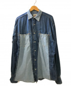 DIESEL()の古着「デニムシャツ」|ブルー