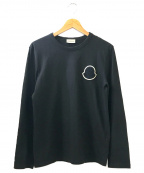 MONCLER()の古着「ビッグロゴワッペン長袖カットソー」|ブラック
